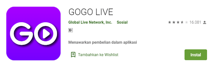 Gogo Live Bebas Streaming APK China