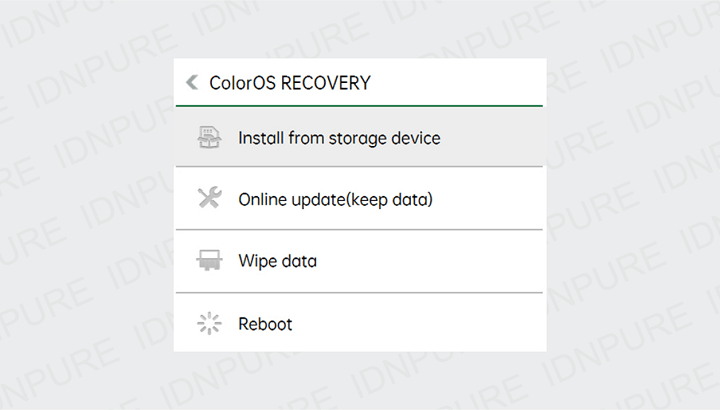 Penyebab HP Oppo Masuk Mode Recovery