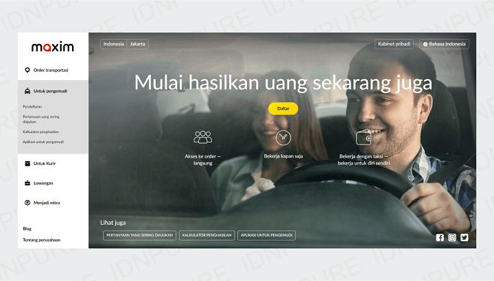Pendaftaran Maxim untuk Driver Mobil dan Motor