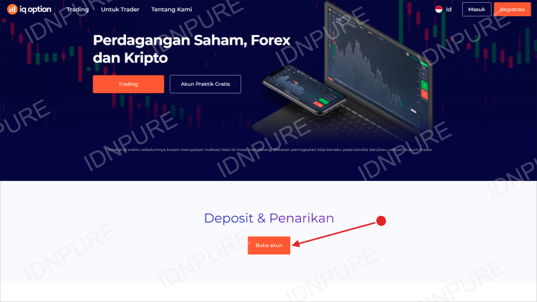 Registrasi Akun IQ Option Indonesia