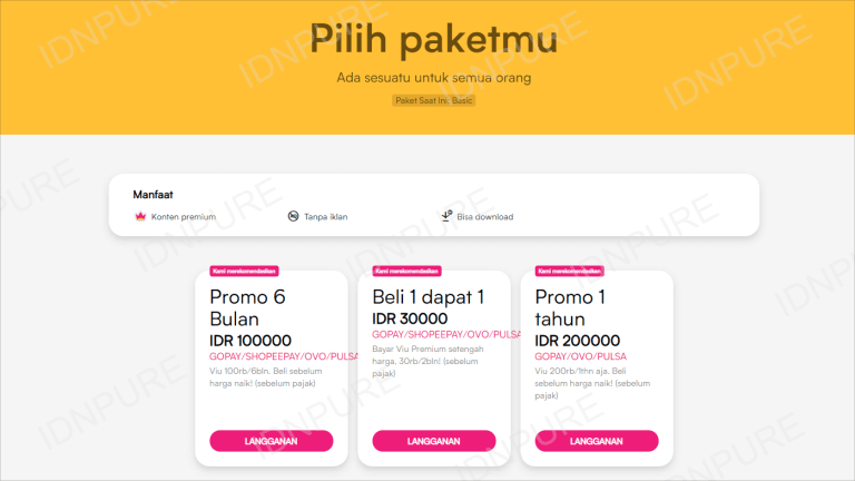 Berlangganan VIU Premium